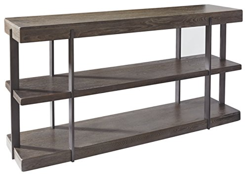 Ashley Furniture Signature Design – Gantoni Contemporary Sofa Table with Shelves – Two-tone