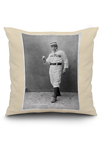 St. Louis Browns - Icebox Chamberlain - Baseball Card (20x20 Spun Polyester Pillow, White Border)