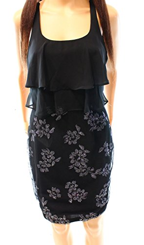 Embellished Blouson (Stacy Sklar Junior Embellished Popover Blouson Dress (Black, 3))