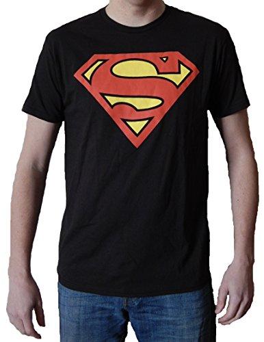 DC Comics Superman Classic Men's Black T-shirt - S to XXL