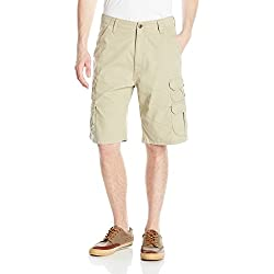 Wrangler Men's Big-Tall Authentics Premium Cargo Short, Camel, 48