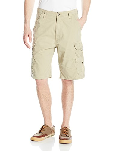 Wrangler Authentics Men's Premium Relaxed Fit Twill Cargo Short, Camel, 33