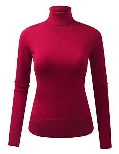 BILY Women's Soft Stretchy Long Sleeve Turtleneck Sweater...