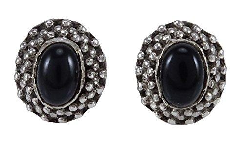 Banithani 925 Sterling Silver Stone Gorgeous Stud Earring Set Fashion Jewelry - Malachite Onyx Earrings