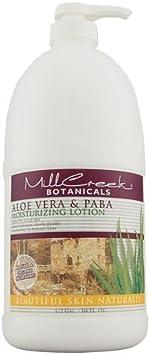 Mill Creek Botanicals Moisturizing Lotion Aloe Vera & Paba, 64 Oz