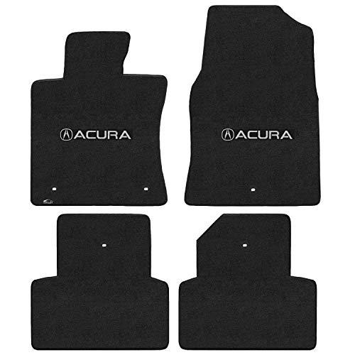 Acura Tl Floor Mats - Lloyd Mats LogoMat Custom Floor Mats for Acura TL 2009-2011 4Pc Front & Back Set, Charcoal Carpet Mats