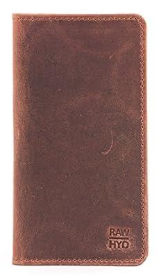 RAWHYD Full Grain Leather Long Bifold Wallet