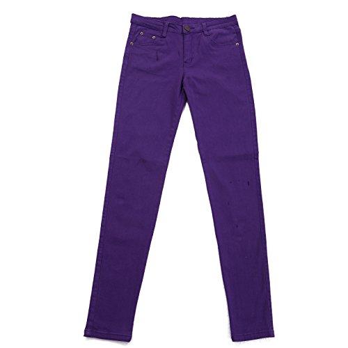 Skinny Slim Fit Rise Mid Stretchy HDE Denim Women's Jeans Purple CHwqEX0