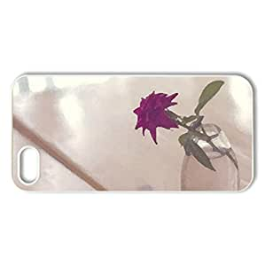 Simply Beautiful - Case Cover for iPhone 5 and 5S (Flowers Series, Watercolor style, White)