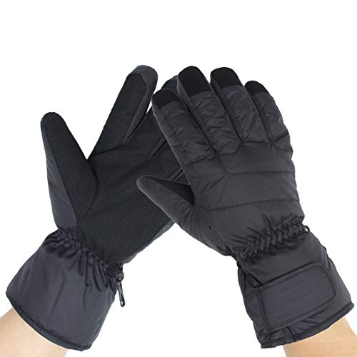 (HighLoong Female Ski Snowboard Gloves Waterproof Cold Weather Glove for Lady Women- Free Balaclava (M))