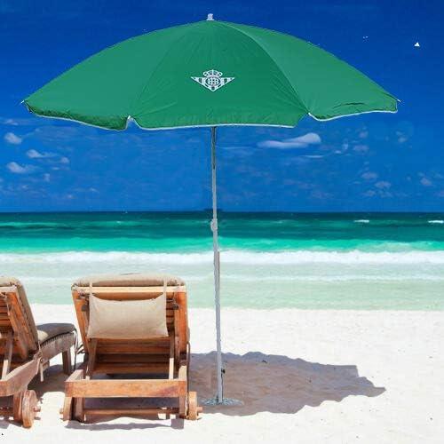 C3design Sombrilla para Playa Real Betis Balompié. Medidas: 2 Metros: Amazon.es: Jardín