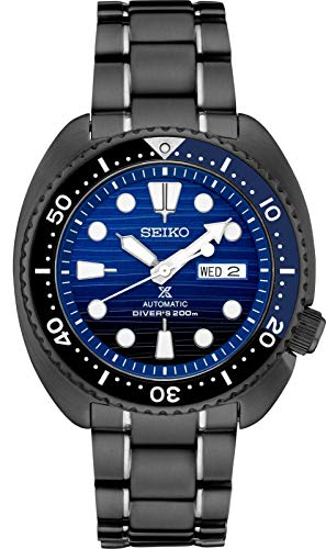 (Seiko Prospex SRPD11 Special Edition Black Ion-Plated Steel Automatic Divers Watch)