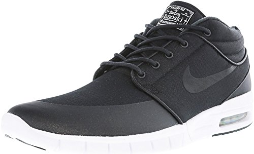 Max Stefan White Black Black Metallic Men's Janoski SB Silver Nike Shoes 61qOZZ