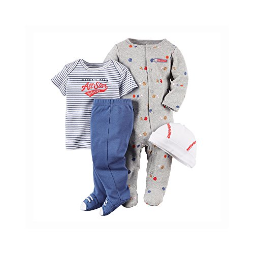 Carter's Baby Boys' 4 Piece Layette Set (Baby) - Baseball - 3M