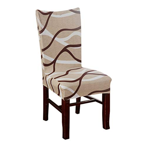 Slipcovers Soft Stretch Spandex Pattern Chair Covers for Kitchen Chair Dining Wedding Party Decoration ()
