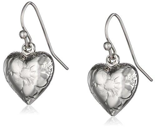 1928 Jewelry Heart Charm Earrings