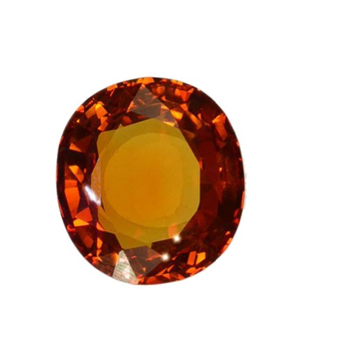 Yellow Golden Orange Lab Sapphire Oval Loose Large ~20mm X 18mm (1)