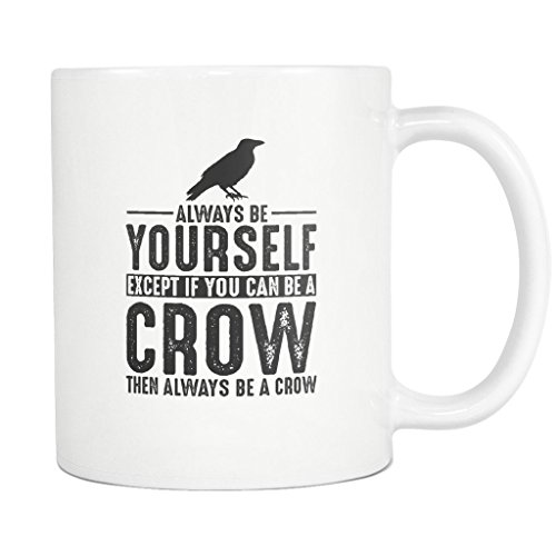 Crow Coffee Mug Funny Gift Tea Cup White ()