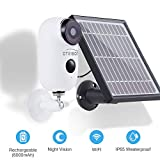 Outdoor Solar Battery Powered Security Camera System,YTVISON 1080p HD 2-Way Audio Night Vision with PIR Motion Sensor SD Card Slot and Cloud Service