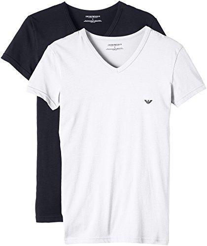 Emporio Armani Camiseta Interior para Hombre (Pack de 2): Amazon.es: Ropa y accesorios
