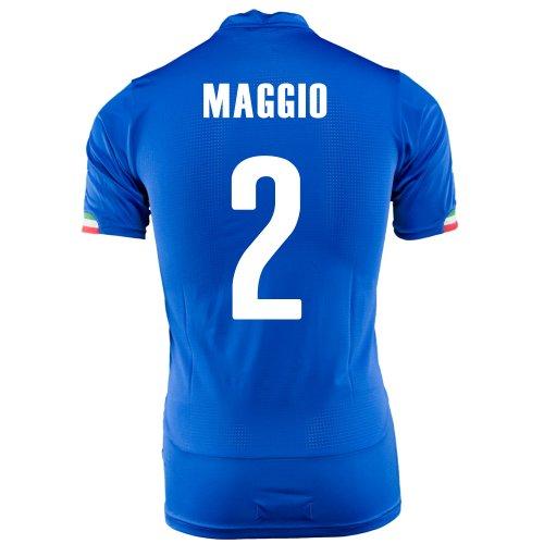 のズームボットPUMA MAGGIO #2 ITALY HOME JERSEY WORLD CUP 2014/サッカーユニフォーム イタリア代表 ホーム用 ワールドカップ2014 背番号2 マッジョ