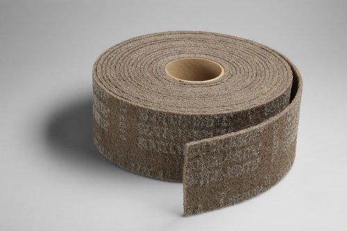 3M Scotch-Brite CP-RL Aluminum Oxide Deburring Roll - Medium Grade - 8 in Width x 30 ft Length - 17565 [PRICE is per CASE] by 3M