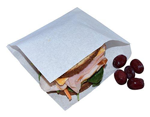 JA Kitchens Deli Wrappers/Double Open/Pretzel Bags, White (250 Count)]()