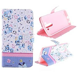 Color Flower Pattern PU Leather Full Body Case with Stand for LG G3