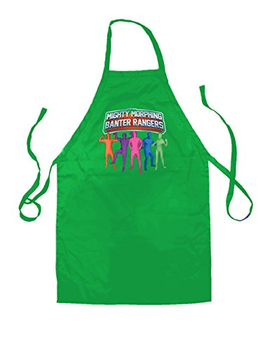 Mighty Morph Rangers - Unisex Fit Apron - Kelly Green - One Size (Green Ranger Morph Suit)