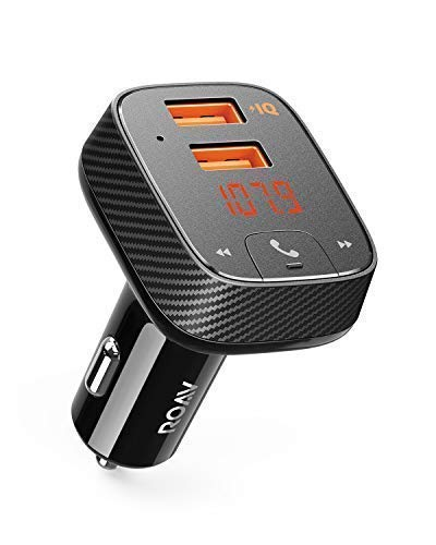 Anker Roav SmartCharge F2 Bluetooth FM Transmitter, Audio Adapter and Receiver, Car Charger with...