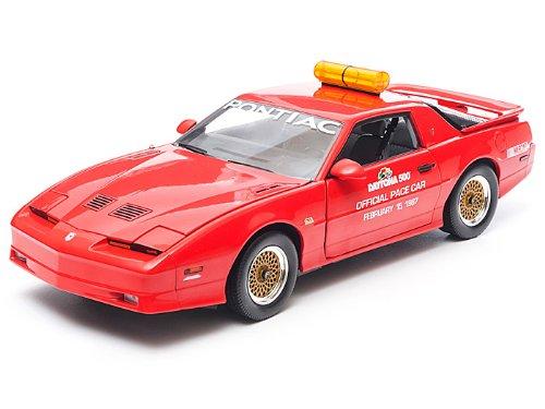 Daytona 500 Pace Car (1987 Pontiac Trans Am GTA Daytona 500 Pace Car (NASCAR) 1/18 Red - Greenlight Models)