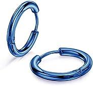 316L Surgical Stainless Steel Huggie Hoop Earrings 8mm/10mm/12mm/14mm/16mm/18mm/20mm Cartilage Helix Lobes Da