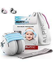 Alpine Hearing Protection Alpine Muffy Muffs, Ear Protectors for Babies and Toddlers, Blue/White, (AMS BLU)