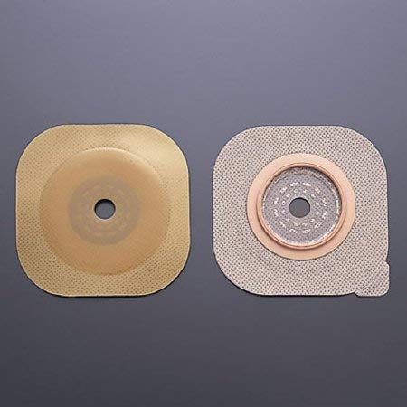 Colostomy Barrier FlexWear 1-3/4'' Flange Green Code Hydrocolloid Cut-to-fit, Up to 1-1/4'' (#15202, Sold Per Box) by New Image