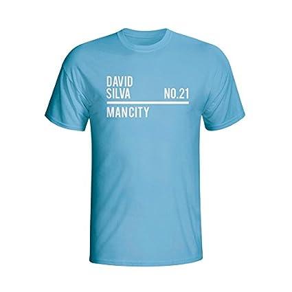 info for 3b8ea 115d3 Amazon.com : David Silva Man City Squad T-Shirt (Sky ...