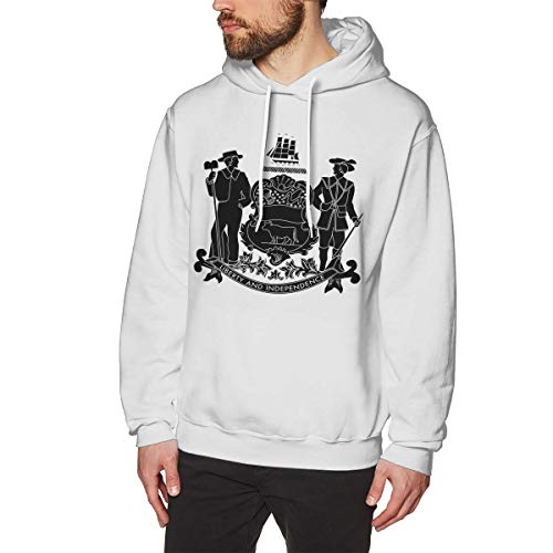 SARA NELL Men's Delaware State Hoodies Pullover Athletic Hooded Sweatshirts -
