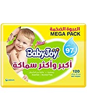BabyJoy Thick and Large Scented, Mega Pack, 120 Wet Wipes