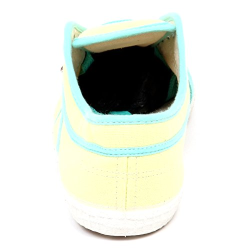Yellow Canvas Woman Sneaker E6764 Kawasaki Box Without Giallo Scarpe Shoe Donna Acqua Azzurro wxq1pXH1g