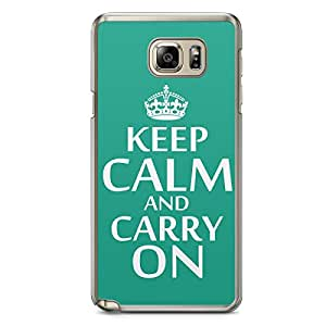 Keep Calm and Carry On Samsung Note 5 Transparent Edge Case