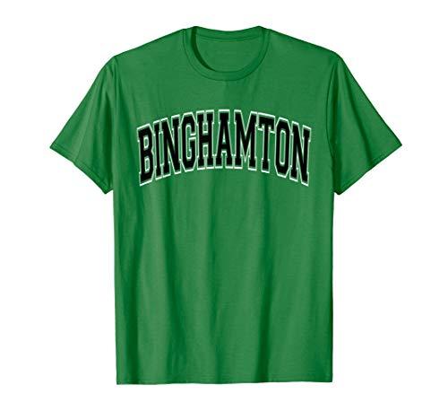 Binghamton T Shirt NY - Varsity Style Black Text ()