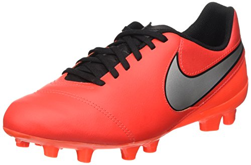 NIKE Kid's Jr. Tiempo Legend VI FG Soccer Cleat (SZ. 3Y) Light Crimson