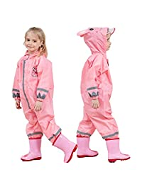 Spring Color Kids Toddler Rain Suit Muddy Waterproof Raincoat Coverall