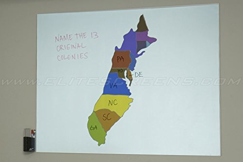 Elite Screens Insta-DE Series, 84-inch 4:3, Wall Covering Dry Erase Marker WhiteBoard Projection Screen, Model: IWB84VW
