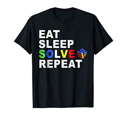 (Eat Sleep Solve Repeat Rubik Cube T-shirt Gift Tee)