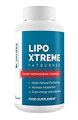 LIPO XTREME Premium Thermogenic Fat Burner by VERDEX   Weight Loss Supplement, Appetite Suppressant & Energy Booster - High Quality Natural Fat Burner with Garcinia Cambodia, Green Tea & More.
