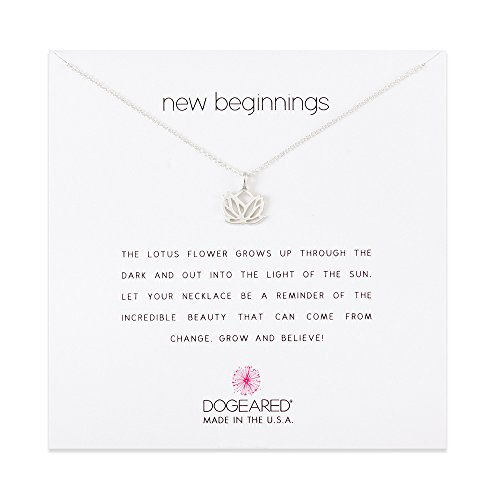 - Dogeared New Beginnings Lotus Sterling Silver Necklace