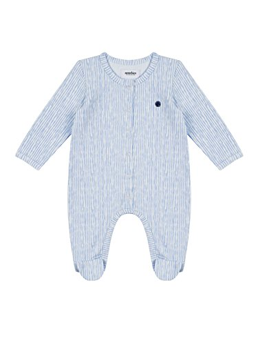 Layettes Baby Free Crochet (Antebies Organic Cotton Super Soft Infant Baby Boy Printed Snap Front Footed Romper 6-9m In Gift Box.)