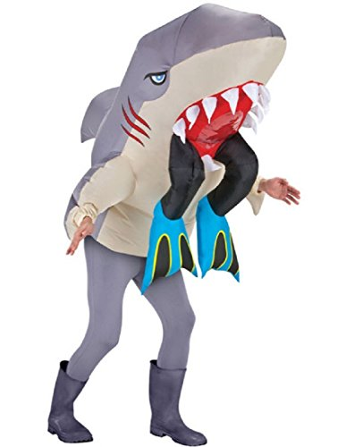 Gemmy Inflatable Shark Head with Legs Adult Costume - One-Size