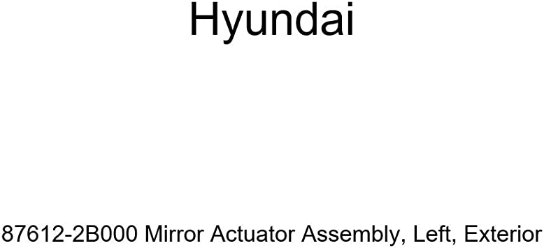 Genuine Hyundai 87612-2B000 Mirror Actuator Assembly Exterior Left