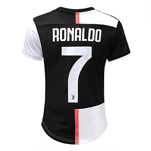 2019 Womens Dark T-shirt - Feeke 7 Ronaldo Women Shirt 2019-2020 Season - Juventus Cristiano Ronaldo Home Soccer T Shirt Black/White